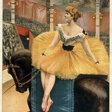 Una noche en el circo vintage poster pinturas al óleo lienzo impresiones arte de la pared para la decoración del dormitorio de la sala de estar