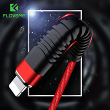 FLOVEME Hi-Tensile USB Cable For iPhone,5V/2A Charge Data Sync 1m 2m Braided Phone Cable For Apple iPhone 7 X 6 8 Plus 10 Cabo