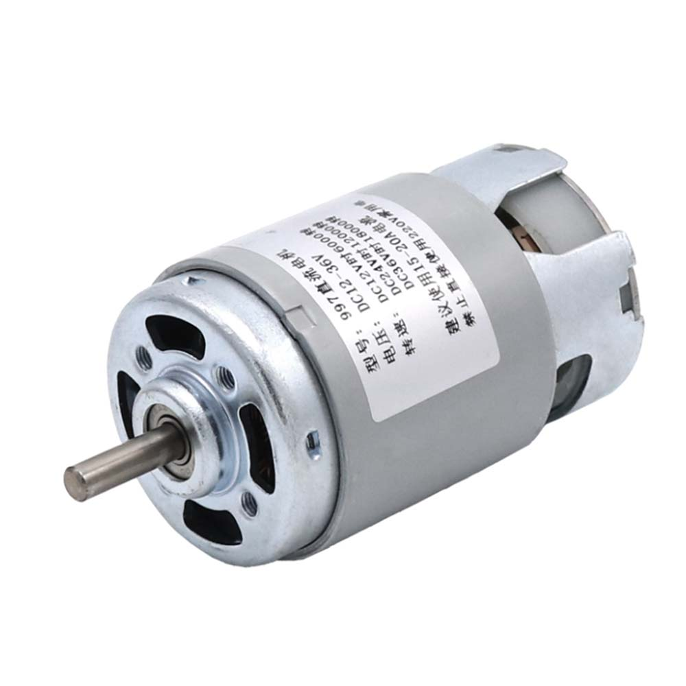 997 Powerful DC Motor Input Voltage DC12-36V High Speed Motor Silent Ball Bearing Motor