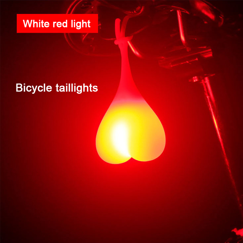 Bike Light Balls Tail Waterproof Silicone Taillight Rear Lights Heart Shape Bicycle Seat Back Egg Lamp Led Bicycle Warning Light