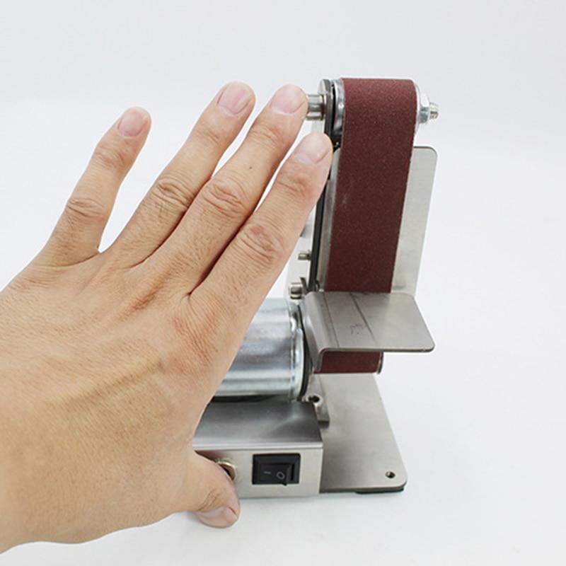 Image 5 - ミニ DIY ベルトサンダーサンディング研削盤研磨ベルトグラインダー研磨 TUE88研磨工具   -
