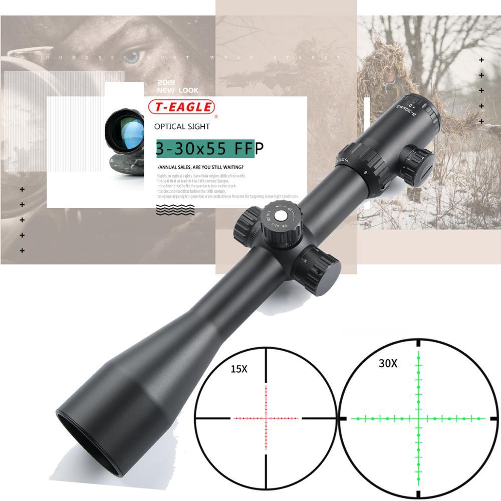 TEAGLE 3-30X55 SFIRGL FFP 7.62 .308 Guns First Focus Plane Tactical Gun Optical Aim Sight Rifle Scope For Hunting Airguns