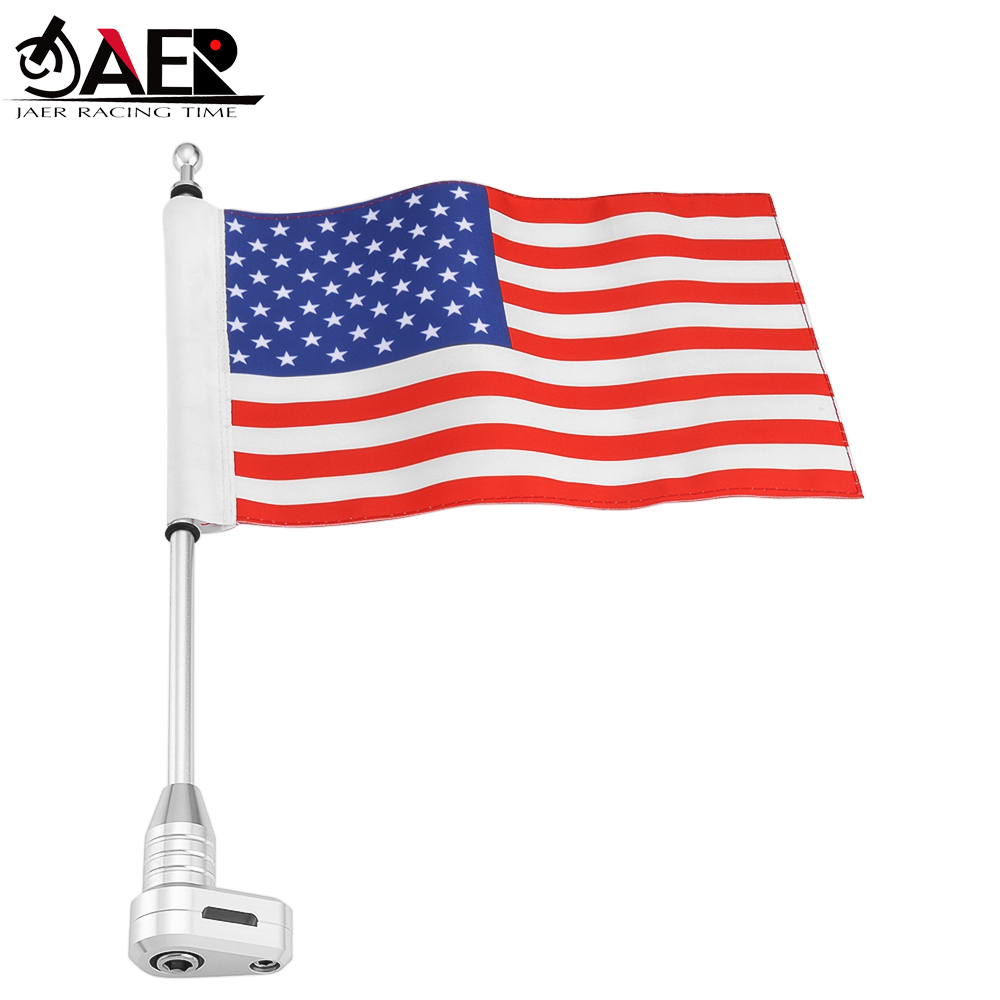 American Luggage Rock Fole Flag Side Mount for Harley Sportster Touring Glide