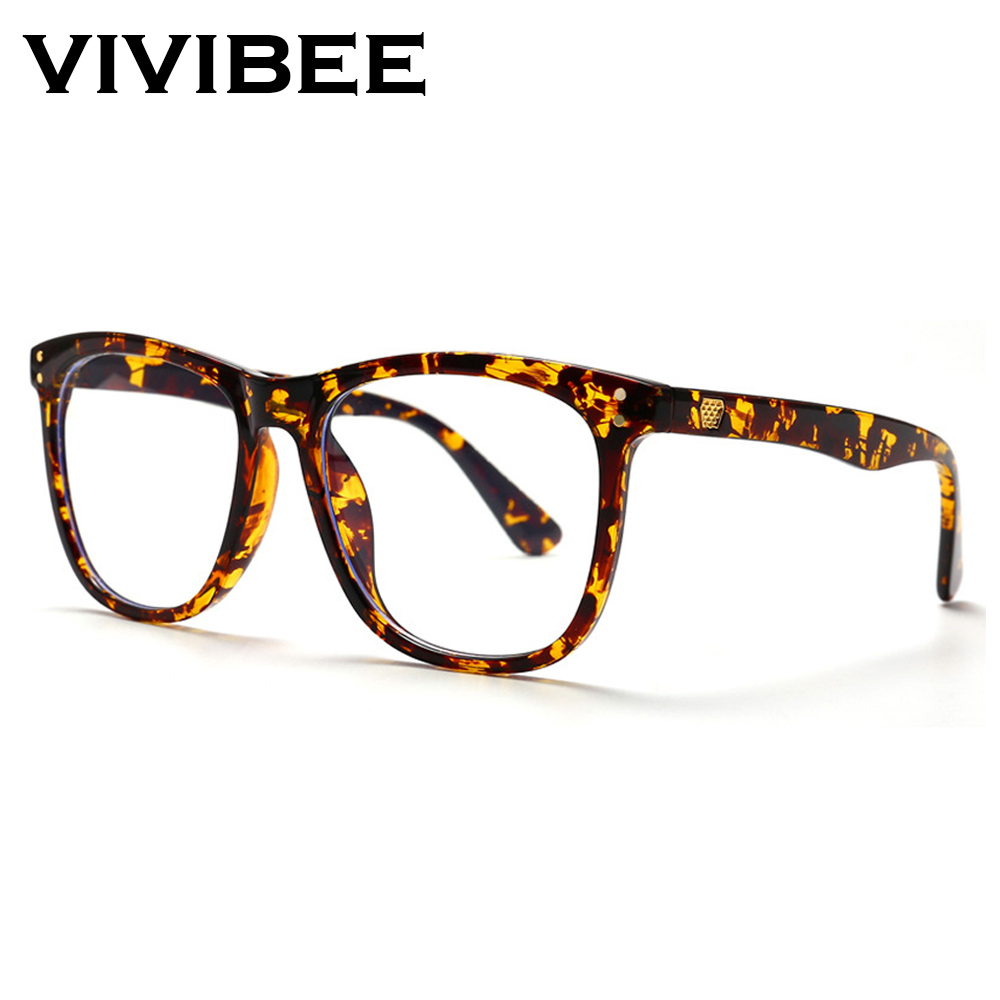 VIVIBEE Women Oversized Leopard Anti Blue Ray Light Glasses for Computer Protection Radiation blocking Gaming Men