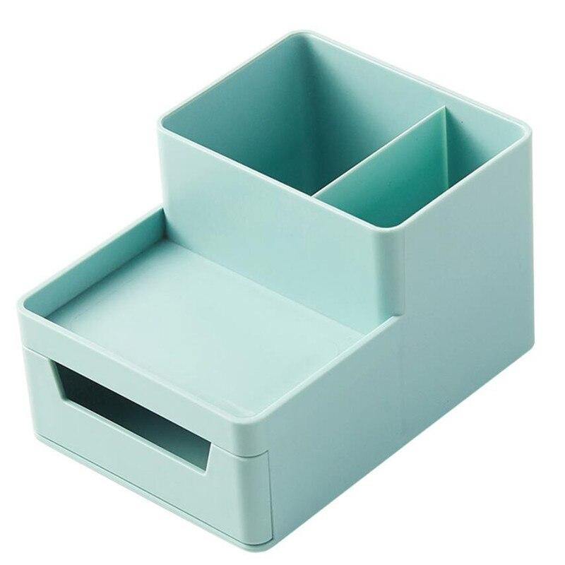 Купить с кэшбэком New Desktop storage box desk file tray Pencil Pen Sundries Badge Holder stationery organizer with drawer Office Supplies