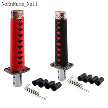 Car JDM Style Short Samurai Sword Shift Knob Katana Gear Shifter with 4 Adapters and Adjust the wrench