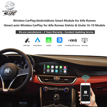 Alfa Rome CarPlay  AndroidAuto Smart Module  iSmart Auto Wireless CarPlay for  Stelvio & Giulia 16-19 Models