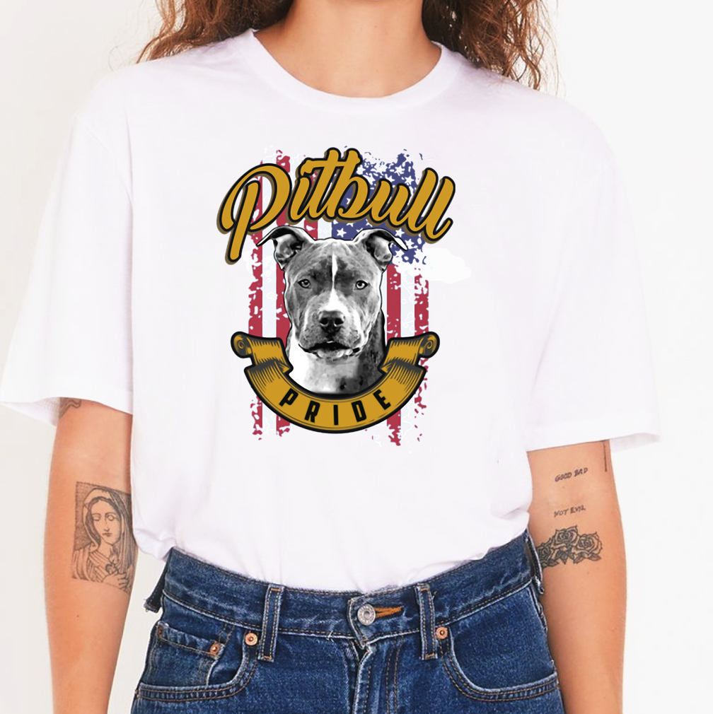 Футболки Pit Bull Pride, индивидуальные продукты, женские Графические футболки