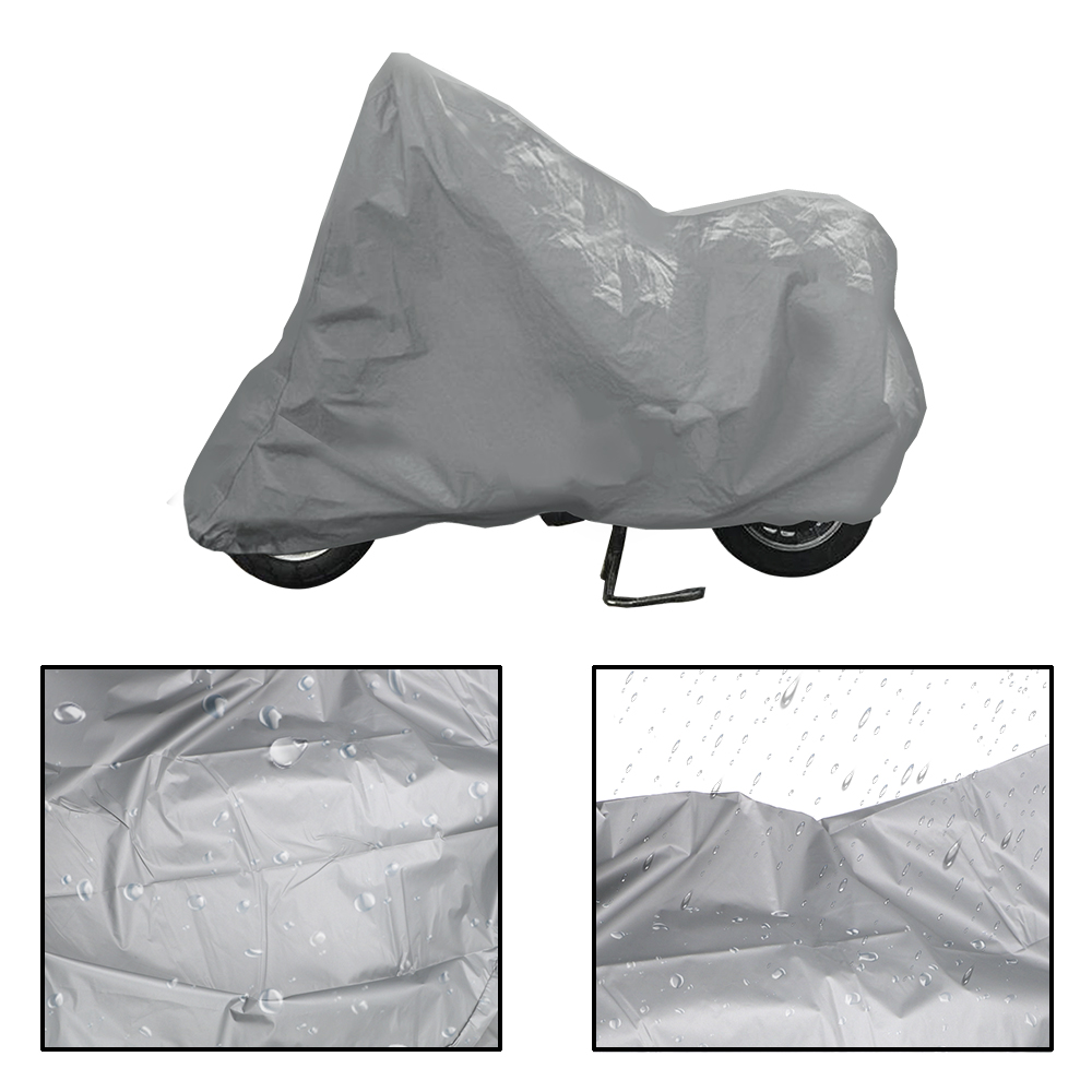 LEEPEE Silver Universal Motos Dust Rain Snow UV Protector Cover Motorcycle Cover Bike Rain Dustproof Covers S M L XL