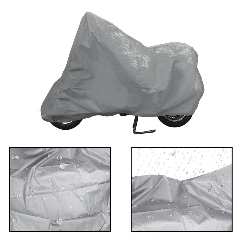 LEEPEE Silver Universal Motos Dust Rain Snow UV Protector Cover Motorcycle Cover Bike Rain Dustproof Covers S M L XL