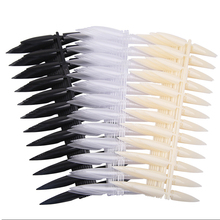 240Pcs(10sheets) Stiletto Long False Fake Nails Tips Manicure Artificial Nails Salon Full Cover Tips White/ Clear /Black Choose