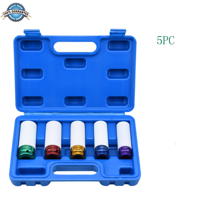 Thin Wall Deep Impact Socket Set Plastic Sleeve Lug Nut Tire Protection Sleeve 22mm /23mm/ 24mm /27mm
