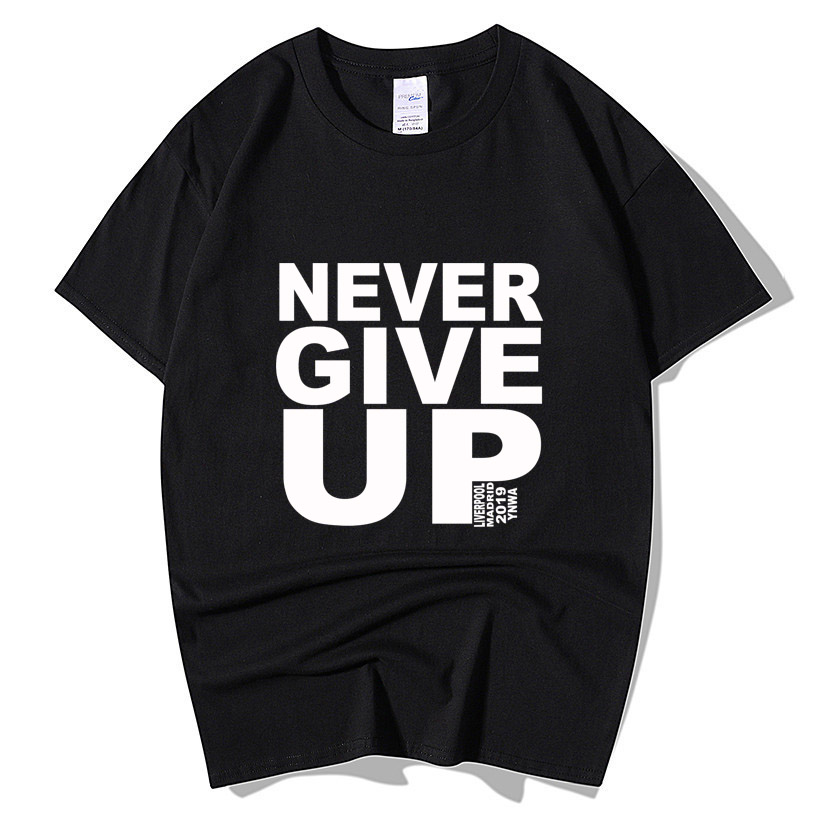 Mo Salah NEVER GIVE UP Adult Kids T Shirt Champions League Madrid 2019 Liverpool T-Shirt