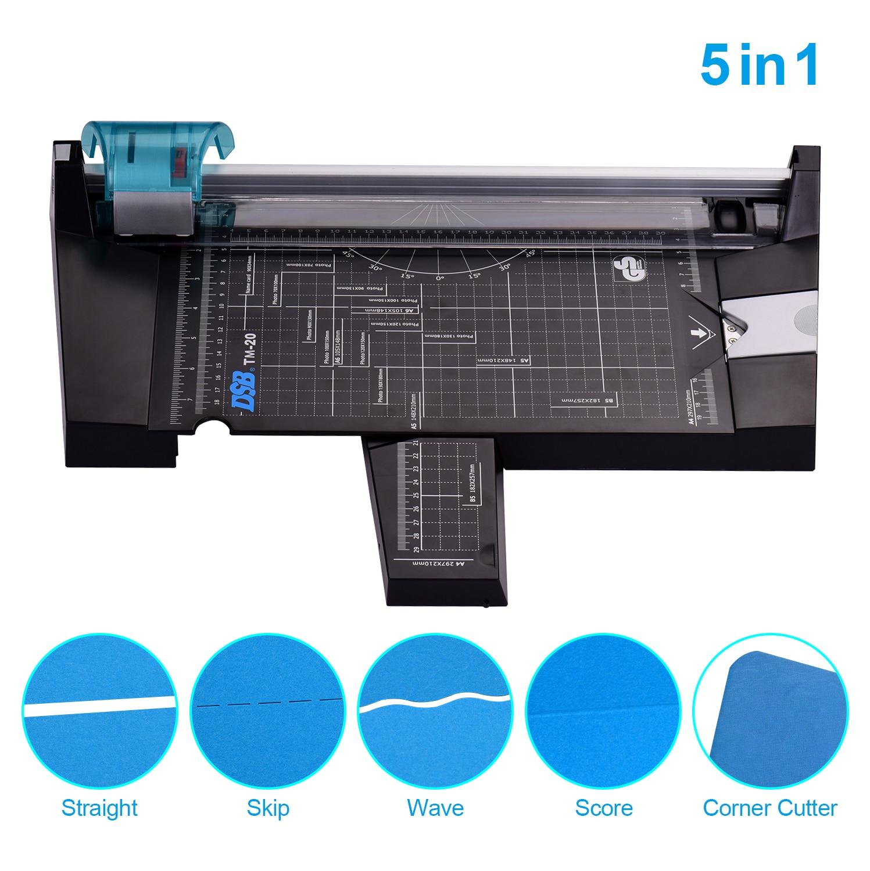 A4 фоторезка DSB 5 в 1, триммер для бумаги, многофункциональный, прямой, с 12-дюймовым порезом, длина для студии