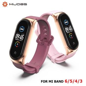 Silicone Straps For Mi Band 5 6 Wristband Bracelet on Mi Band 4 Strap Wrist For Xiaomi Mi Band 3 Strap for Amazfit band 5 Xiomi 1