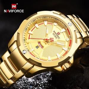 Image 5 - NAVIFORCE Top Luxury Gold Watch Sport Watches For Men Military Quartz Wristwatch Casual Waterproof Clock Male Relogios Masculino