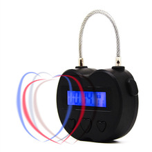 Function Electric Timer Padlock Security Locks Locker Lock Small Suitcase Penis Lock Mini Lock small mini lock solid plastic case copper padlock travel tiny suitcase and lock with 2 keys have 8 colors home accessories