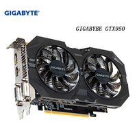 GIGABYTE Graphics Card GTX 950 GPU 2GB 128Bit Used Cards for PC Hdmi Dvi game VGA GDDR5 Video Card GTX 950 with NVIDIA GeForce