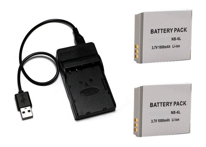 NB-6L NB6L NB-6LH NB6LH Батарея+ Зарядное устройство зум-объектив для Canon Powershot SD770 SD980 SD1200 SD1300 SD3500 SD4000 является D10 D20 D30 SX540 SX710 - Цвет: Зеленый