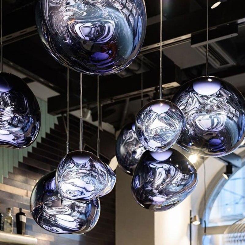Nordic Glas Lava E27 Anhänger Lichter Beleuchtung Anhänger Lampen für Home Decor Wohnzimmer Bar Cafe Loft Küche Leuchten Hanglamp
