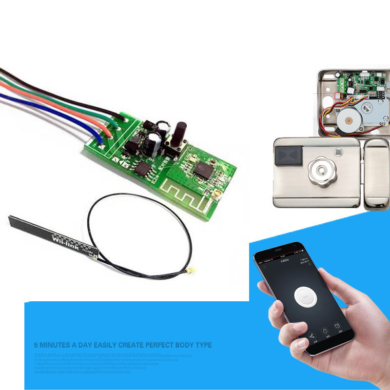 12V WiFi Smart Switch Electronic Lock Door for EWelink APP Works with Alexa/Google Home Smart Home Automation Modules