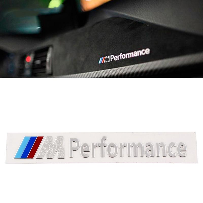 1PCS M Performance Nickel Alloy 3D Car Sticker Decal For Bmw M Sticker X1 X3 X4 X5 X6 X7 E46 E90 F20 E60 E39 F10 Car Accessories