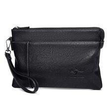 New Luxury Brand Men Clutch Bag Leather Large Capacity Men W