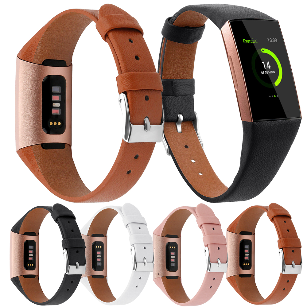 Essidi Geniune Leather Strap For Fitbit Charge 3 4 Smart Bracelet Band Clasp For Fitbit Charge 3 4 Wristband Loop 1