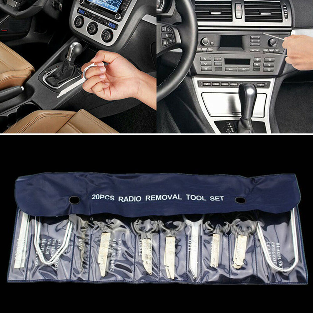 20Pcs/Set Radio Removal Tool Auto Car Kit Audio Tools Stereo CD Stainless steel