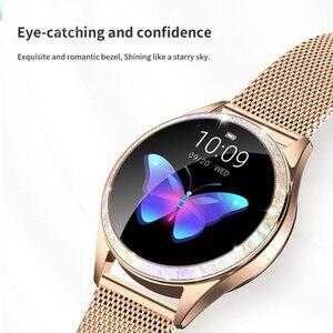Image 3 - Femmes montre intelligente fréquence cardiaque IP68 étanche podomètre Bluetooth montre rappel dappel Fitness Tracker femme Smartwatch Android