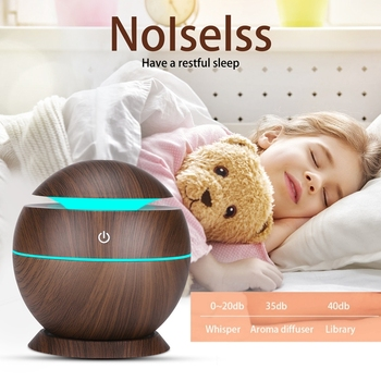 Elektryczny nawilżacz powietrza niezbędne dyfuzor olejów zapachowych ultradźwiękowy Wood Grain nawilżacz USB domu Mini nawilżacz ekspres LED światło dla tanie i dobre opinie CN (pochodzenie)