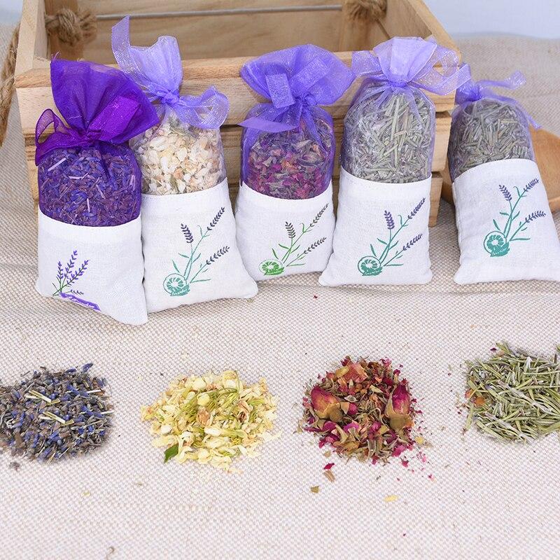 Natürliche Getrocknete Blumen Stieg Jasmin Lavendel Knospe Blume Beutel Tasche Füllung Reale Natürliche anhaltende Lavend Auto Zimmer Luft Erfrischend