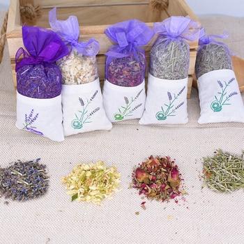 цена на Natural Dried Flowers Rose Jasmine Lavender Bud Flower Sachet Bag Filling  Real Natural lasting Lavend Car Room Air Refreshing
