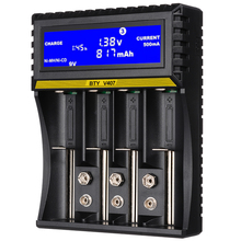 Rechargeable Battery Charger Li-ion AA AAA 18650 26650 14500 9V Ni-MH Ni-Cd Lithium Batteries LCD Smart USB Charger High Quality original klarus ch4s smart battery charger ac usb input 4 slot lcd intelligent battery charger for c aa aaa 18650 26650 14500
