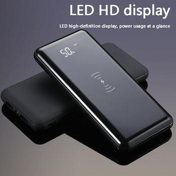 צ 'י אלחוטי מטען עבור IPhone סמסונג 30000mah כוח בנק חיצוני סוללה בנק מובנה אלחוטי מטען Powerbank נייד
