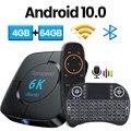 Transpeed Android 10,0 телевизионная коробка с Bluetooth голосовой помощник 6K 3D Wi-Fi 2,4G и 5,8G 4 ГБ Оперативная память 64G Media player очень быстро коробка компьютер...