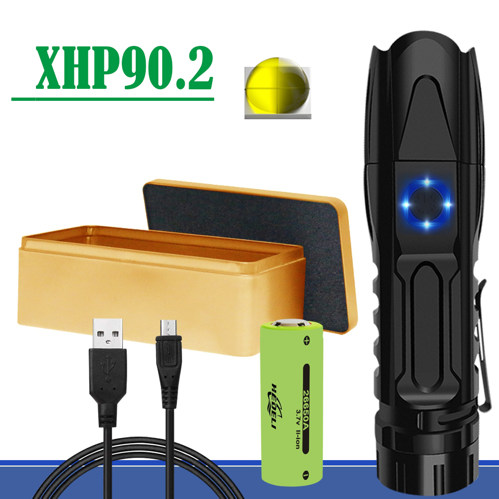 300000 Lumen Xhp90.2 Most Powerful Mini Led Flashlight Torch Xhp70 Rechargeable Tactical Flashlights Usb Xhp50 Hand Lamp Xhp70.2