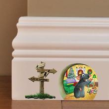 3 estilos de pegatinas de dibujos animados para el hogar Decoración de pared decoración infantil con diseño de agujero con ratón Adhesivo de pared de vinilo calcomanía Vintage Póster