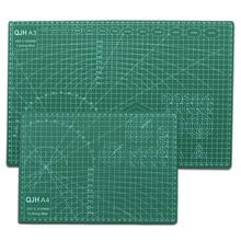 A3 A4 PVC Schneiden Matte Leder DIY Handwerk Werkzeug Büro Schreiben Pad Basis Platte Pad mit Lineal Zeichnung schneiden Rechteckigen grid Linie