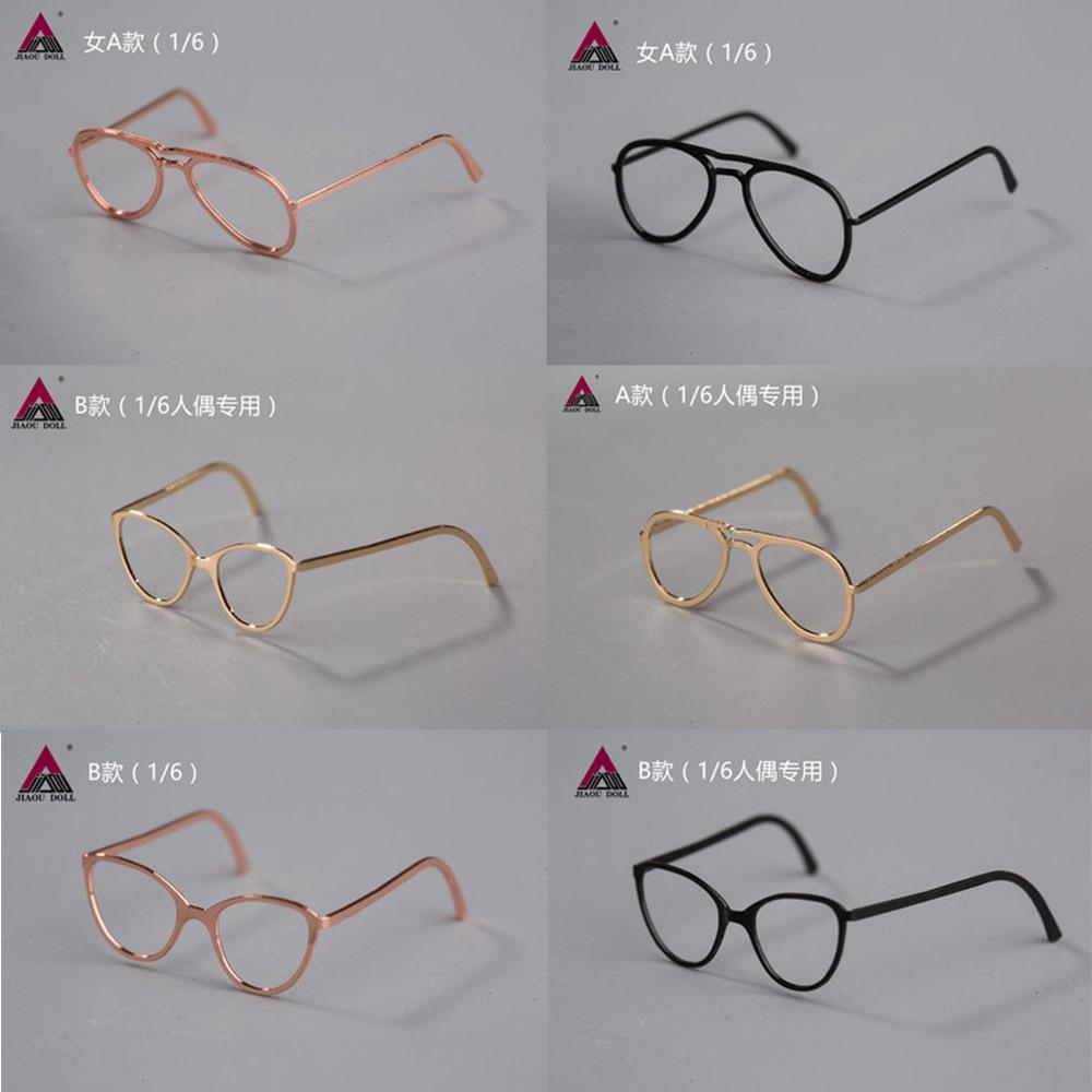 1//6 Fashion Glasses Frames Metal Foldable Bending No lens Fit 12/'/' Action Figure
