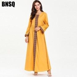 BNSQ Muslimischen Kleid Arabisch Kaftan Kaftan Marokkanischen Abaya Dubai Hijab Frauen Islamischen Indien Maxi Pakistanischen Oma Robe Lehenga Kleider