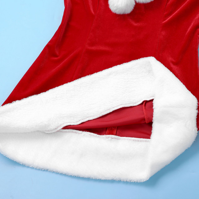 Sexy Velvet Santa Christmas Costume #C1534 5
