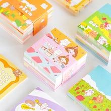 Yoofun 320 arkuszy kreatywna kreskówka notatnik codzienna wiadomość notatki śliczny notatnik Do zrobienia lista Kawaii Korea papiernicze biuro szkoła