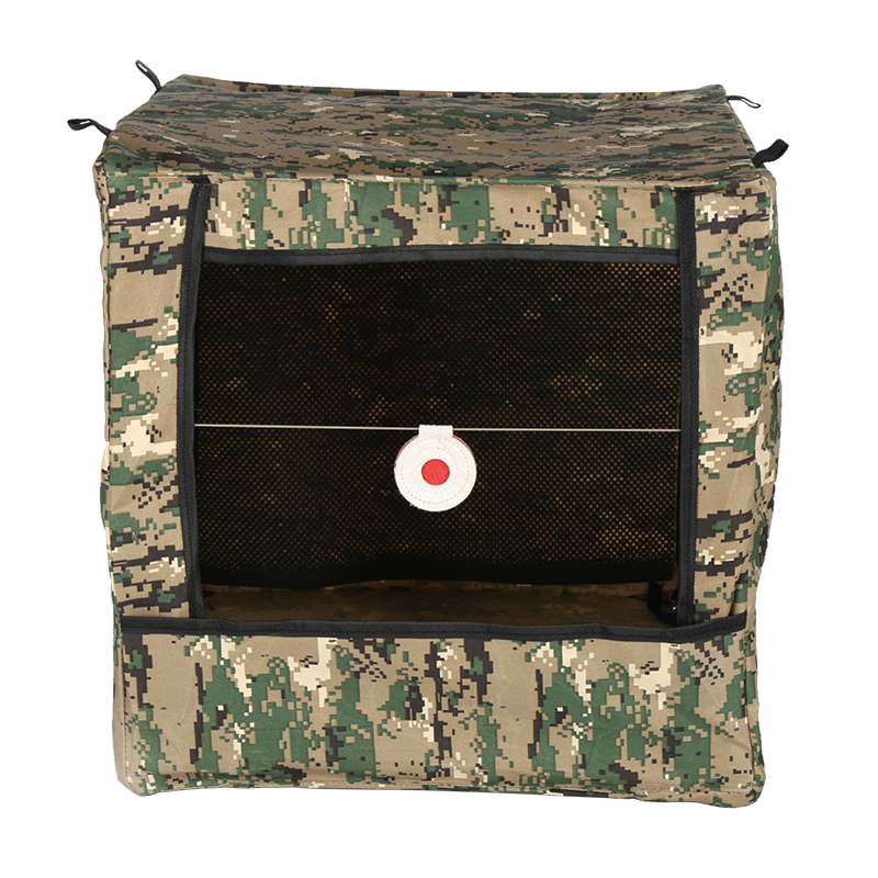 39x39cm Slingshot Target Box Stainless Steel   Target Box Duble Muffler Cloth Practice Projectile Shooting Target Folding