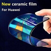 Película protectora de cerámica para Huawei P40 lite P30 Pro P20 Honor 20 10 9X 9A 8X, protector de pantalla de cobertura completa, dureza antirotura