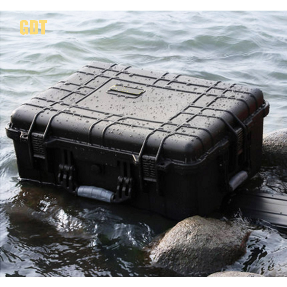 Waterproof High Quality Professional Safety Protection Toolbox Draw Bar Box With Wheels Photographic Equipment With Pre-cut Foam