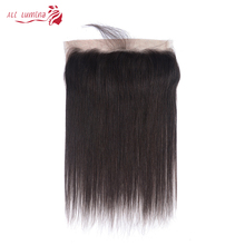 Closure 13x4 Human-Hair Lace-Frontal Natural-Hairline Swiss Straight Brazilian 4X4 100-%