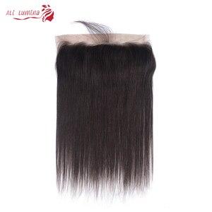 Бразильские прямые человеческие волосы на сетке, Фронтальная застежка 13x4, швейцарские кружева, 100% человеческие волосы без повреждений, нат...