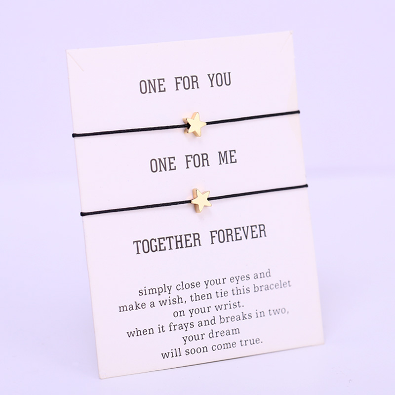 (A SET) Love Star Tree Heart Bracelets Couple Best Friends Adjustable Rope Bracelet Women Men Girl Jewelry Drop Shipping
