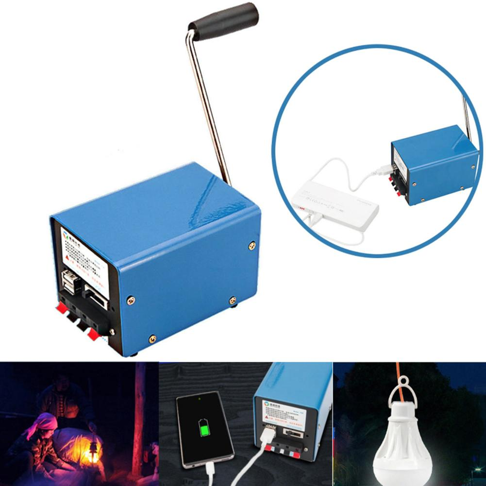 Outdoor Portable Manual Hand-cranked Generator USB Charge Electric Dynamo Power Electric Dynamo Power